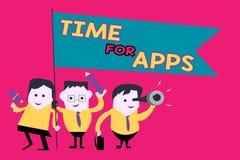 Temps des textes d'écriture de Word pour Apps Concept d'affaires pour le meilleur service complet que les aides communiquent plus illustration stock