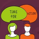 Temps des textes d'écriture de Word pour l'action Concept d'affaires pour le travail de défi d'encouragement de mouvement d'urgen illustration libre de droits