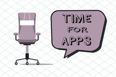 Temps des textes d'écriture pour Apps Concept signifiant le meilleur service complet que les aides communiquent plus rapidement illustration libre de droits