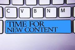 Temps des textes d'écriture pour le nouveau contenu Concept signifiant le concept de mise à jour de publication de Copyright édit image libre de droits