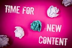Temps des textes d'écriture pour le nouveau contenu Le concept signifiant le concept de mise à jour de publication de Copyright é image libre de droits