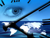Temps du monde illustration libre de droits