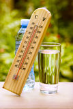 Temps durante uma onda de calor do verão Fotos de Stock