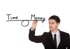 Temps et équilibre d'argent photographie stock