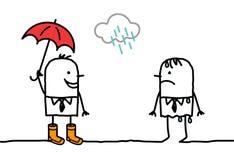 Temps et accessoires pluvieux illustration stock