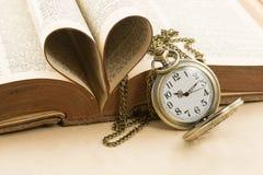 Temps et amour Image libre de droits