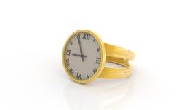 Temps et anneau Photo stock