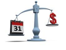 Temps et argent Photos libres de droits