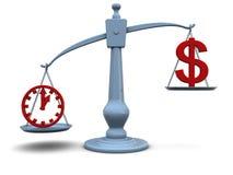 Temps et argent Image libre de droits