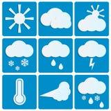 Temps et climat illustration stock