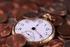 Temps et concept d'argent Photo stock