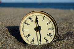 Temps et concept de mer Photos libres de droits