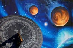 Temps et espace Image stock