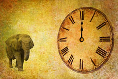 Temps et espace, douze heures Photographie stock libre de droits