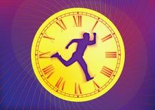 Temps et homme Image stock