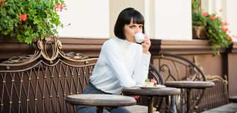 Temps et relaxation agréables Casse-croûte délicieux et gastronome E Concept de dessert image stock