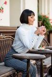 Temps et relaxation agréables r E Concept gastronome photographie stock