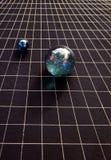 Temps et sphères d'espace Photo stock