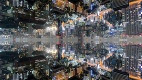 Temps-faute d'imagination de Tokyo avec les immeubles de bureaux reflétés clips vidéos