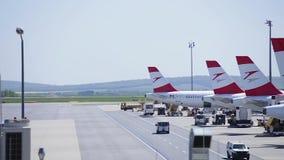 Temps-faute de terminal d'aéroport banque de vidéos