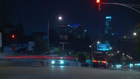Temps-faute du trafic de Los Angeles banque de vidéos