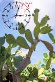 Temps heure d'été DST Horloge murale allant à l'horaire d'hiver Tournez le temps en avant image libre de droits