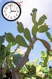 Temps heure d'été DST Horloge murale allant à l'horaire d'hiver Tournez le temps en avant photographie stock