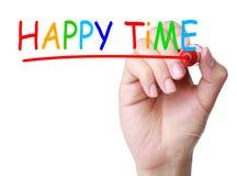 Temps heureux images stock