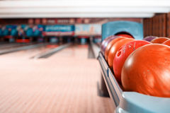 Temps libre dans le club de bowling Photo stock