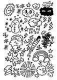 Temps mignon de dessin animé Images stock