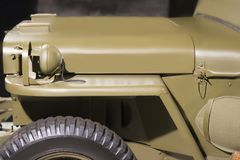 Temps militaire américain du véhicule WW2 de cru Vue de côté images stock