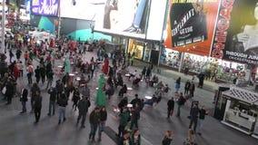 Temps New York City carré banque de vidéos