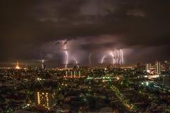 Temps orageux à Bangkok Images libres de droits