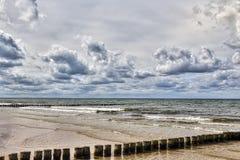 Temps orageux à la mer Image libre de droits