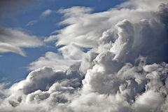 Temps orageux de nuages Photo stock