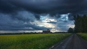 Temps orageux foncé Images libres de droits