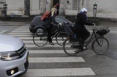 TEMPS PLUVIEUX À COPENHAGUE DANEMARK Photographie stock