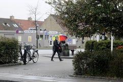 TEMPS PLUVIEUX À COPENHAGUE DANEMARK Image stock
