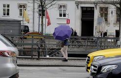 TEMPS PLUVIEUX À COPENHAGUE DANEMARK Photographie stock libre de droits