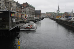 TEMPS PLUVIEUX À COPENHAGUE DANEMARK Images libres de droits