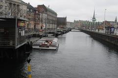 TEMPS PLUVIEUX À COPENHAGUE DANEMARK Image libre de droits