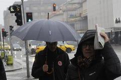 TEMPS PLUVIEUX À COPENHAGUE DANEMARK Photos libres de droits