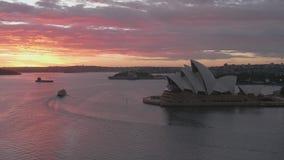 Temps réel de lueur de matin de Sydney Harbor banque de vidéos