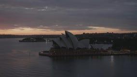 Temps réel de lueur de matin de Sydney Harbor clips vidéos