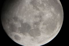 Temps réel pris de lune le 30 mai 2018 photos libres de droits