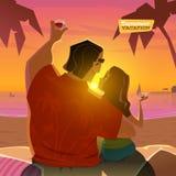Temps romantique dans la soirée Photo stock