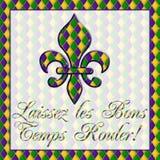 ¡Temps Rouler de los Bons de los les de Laissez! Mardi Gras Imagen de archivo