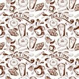 Temps sans joint de thé de configuration illustration de vecteur