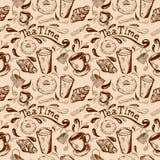 Temps sans joint de thé de configuration illustration stock