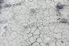 Temps sec Fond sec et criqué de la terre Photographie stock